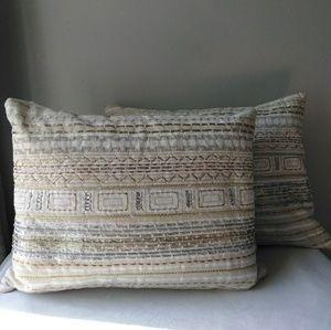 Set of Two Kim Seybert Living Throw Accent Pillows